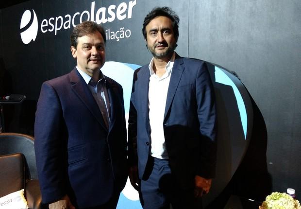 Paulo Morais e Ygor Moura, executivos da empresa Espaço Laser (Foto: Rafael Carneiro)