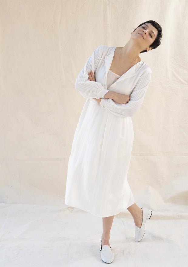 A maquiadora Vanessa Rozan  (Foto: Murillo Mendes/ Sapatos Owme )