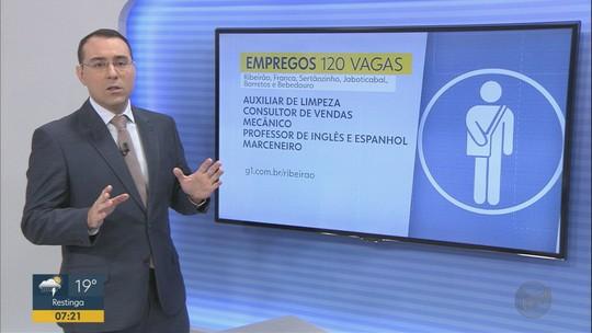 Região de Ribeirão Preto tem 141 vagas de emprego abertas com salários até R$ 7 mil