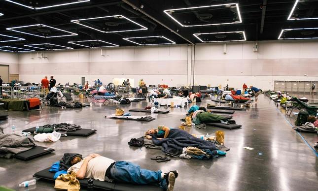 Centro de resfriamento, com ar condicionado, em Oregon, nos EUA