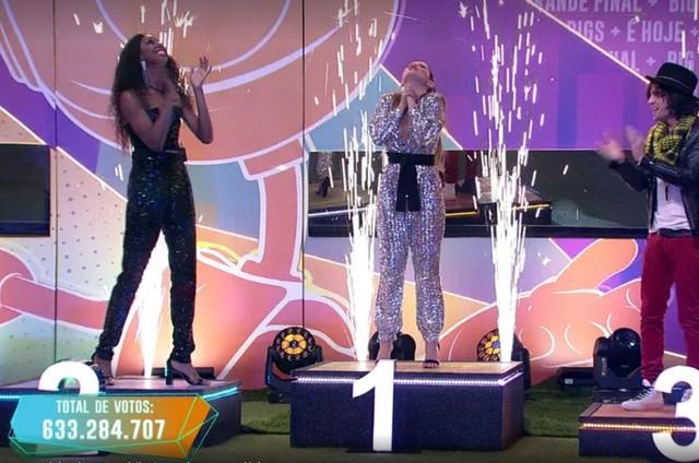 Camilla, Juliette e Fiuk na final do 'BBB' 21 (Foto: Globo)