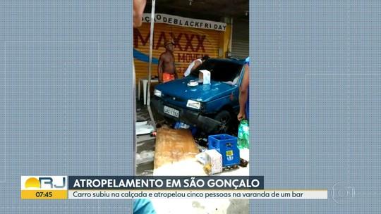 Cinco pessoas são atropeladas em São Gonçalo