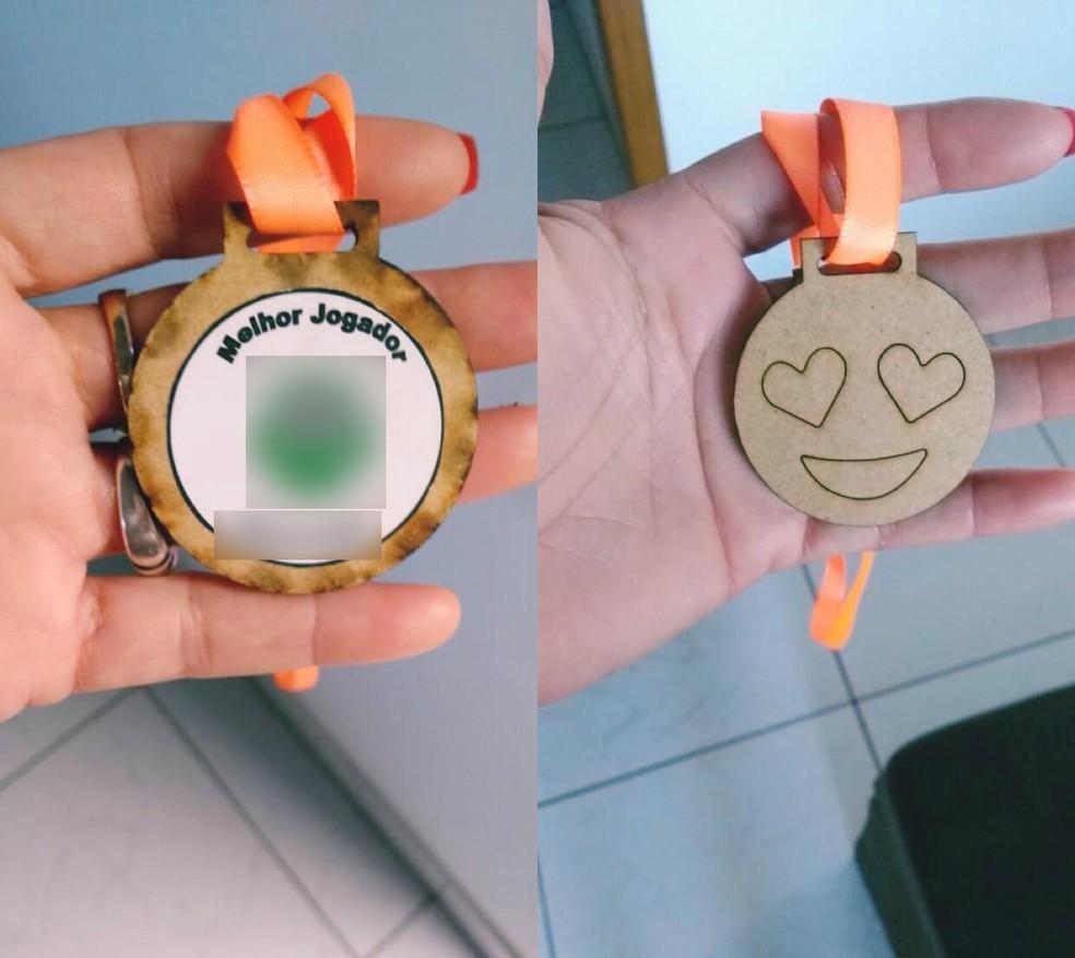 Medalhas distribuídas em evento de MS — Foto: G1 MS