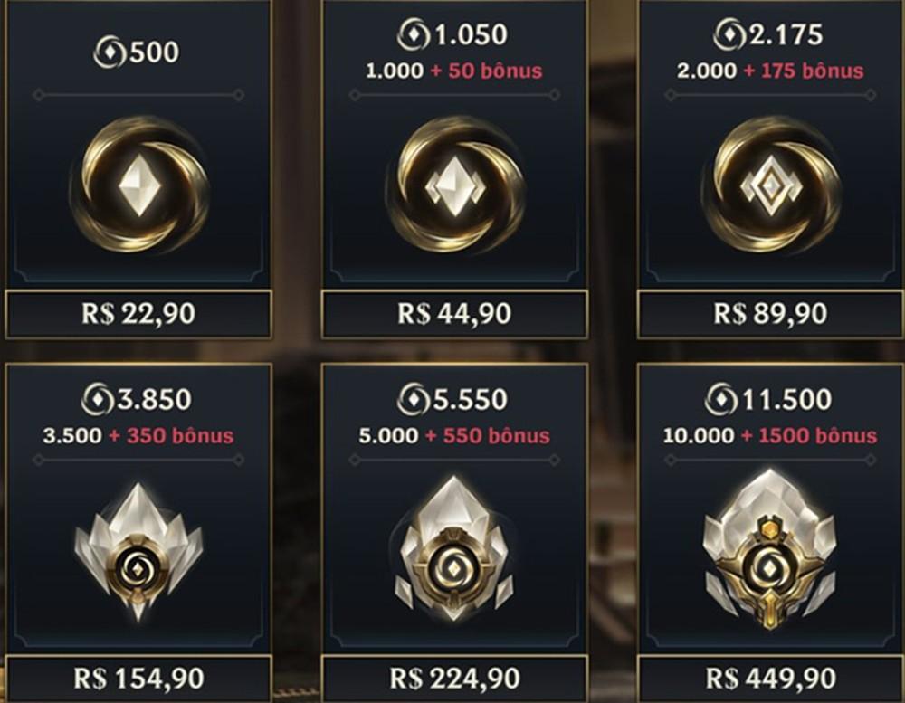 Preço dos Wild Cores no iOS — Foto: Reprodução/Mais Esports