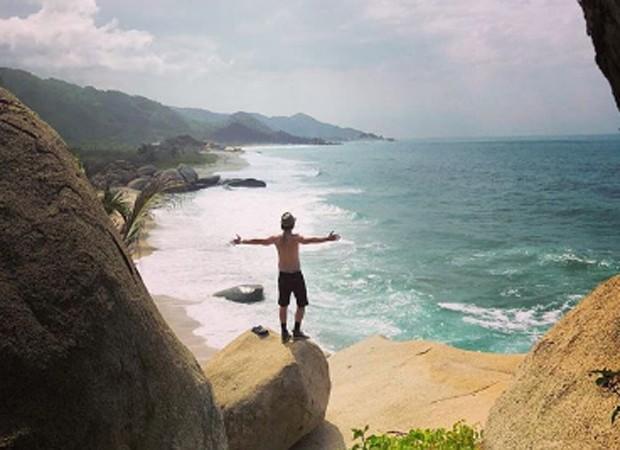 Caio Paduan em viagem para a Colômbia (Foto: Reprodução/Instagram)