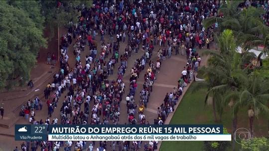 Desemprego é de 15,5% na Grande São Paulo