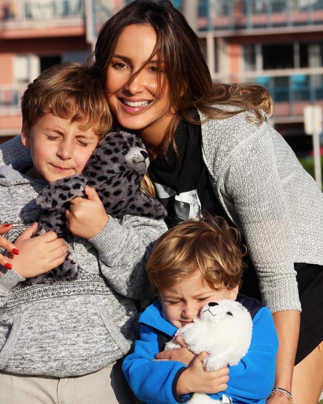Claudia Leitte e seus filhos Davi e Rafael, de 9 e 6 anos (Foto: Reprodução / Instagram)
