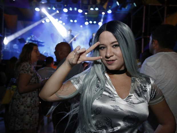 Carol Martins, do The Kraken Music, curtindo o Fica Verão (Foto: Marcelo de Jesus)