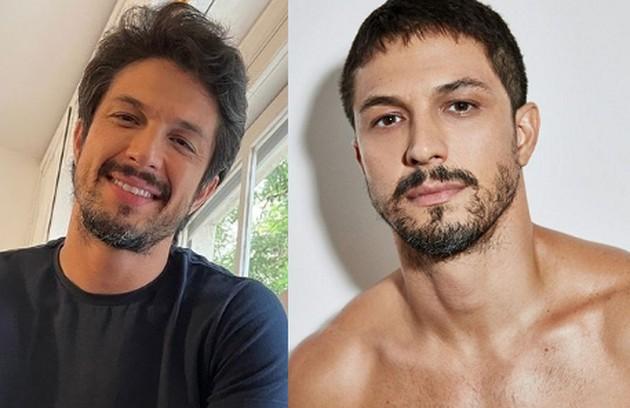 Já Romulo Estrela, que não esteve na versão original, também precisou mudar. Ele estava com o cabelo volumoso e, na série, terá novo corte (Foto: Reprodução/Instagram)