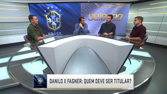 Muricy avalia Danilo e Fagner, e comentaristas opinam quem deve ser titular na Copa
