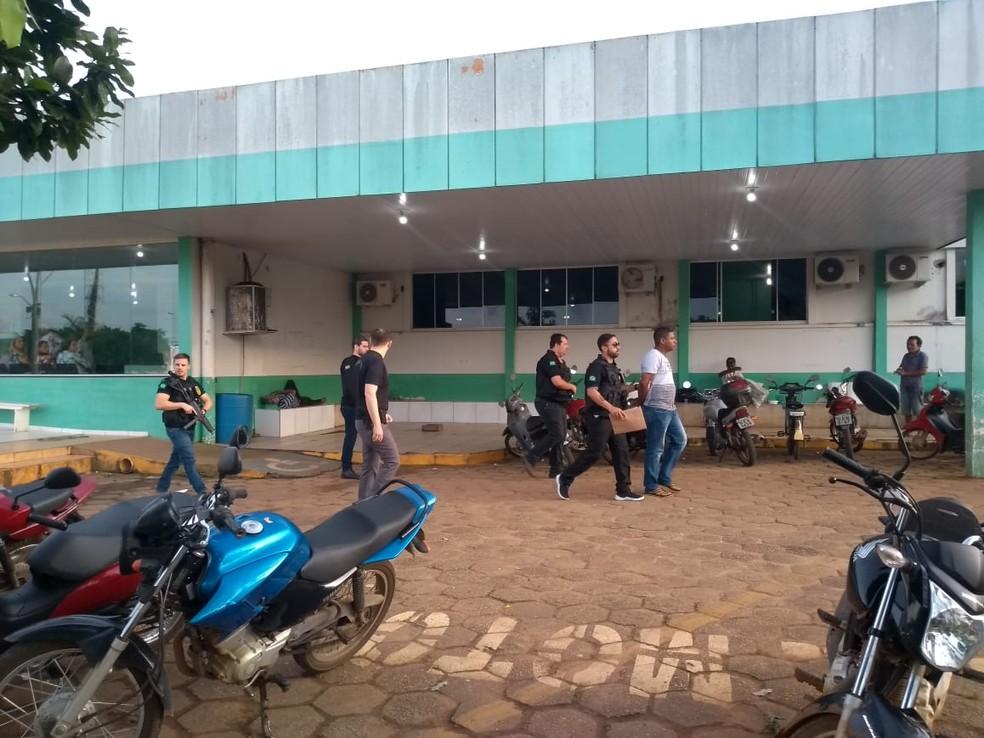 Mandado de prisão foi cumprido no Hospital Regional de Vilhena — Foto: Eliete Marques/ G1