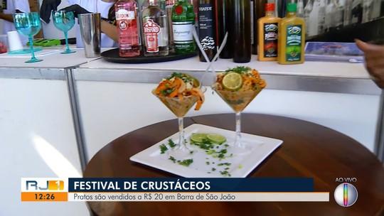 Festival de Crustáceos de Barra de São João tem pratos vendidos a R$ 20