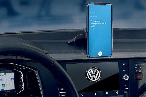 O app Meu VW facilita a vida do motorista porque permite tirar dúvidas sobre o carro com a ajuda da inteligência artificial (Foto: Divulgação)