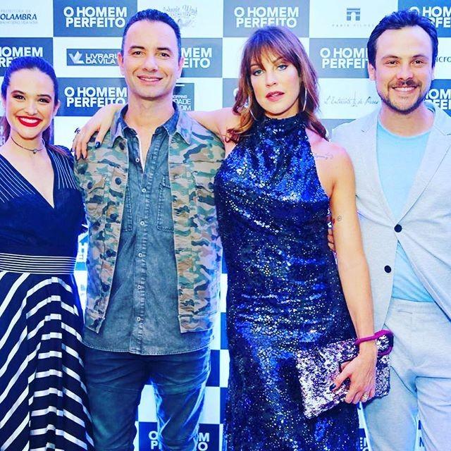 Juliana Paiva, Marco Luque, Luana Piovani e Sergio Guizé (Foto: Reprodução/Instagram)