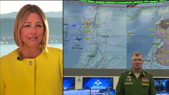 Rússia diz que avião militar foi derrubado por defesa da Síria e atribui culpa a Israel