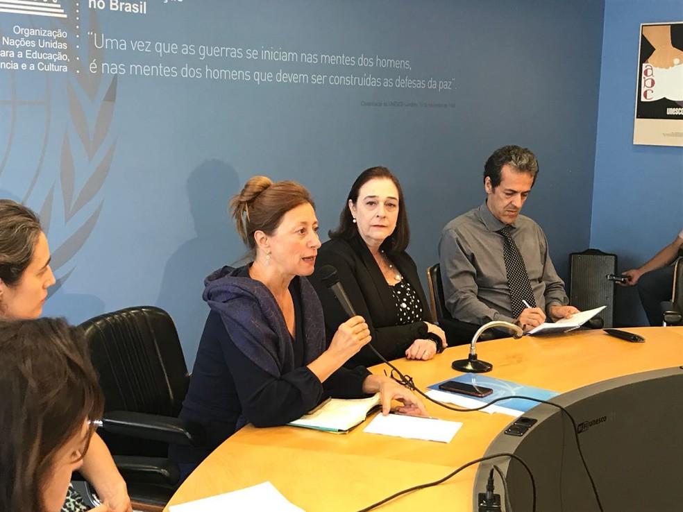 Cristina Menegazzi, chefe da Missão de Emergência da Unesco criada para recompor o Museu Nacional — Foto: Luiza Garonce/G1