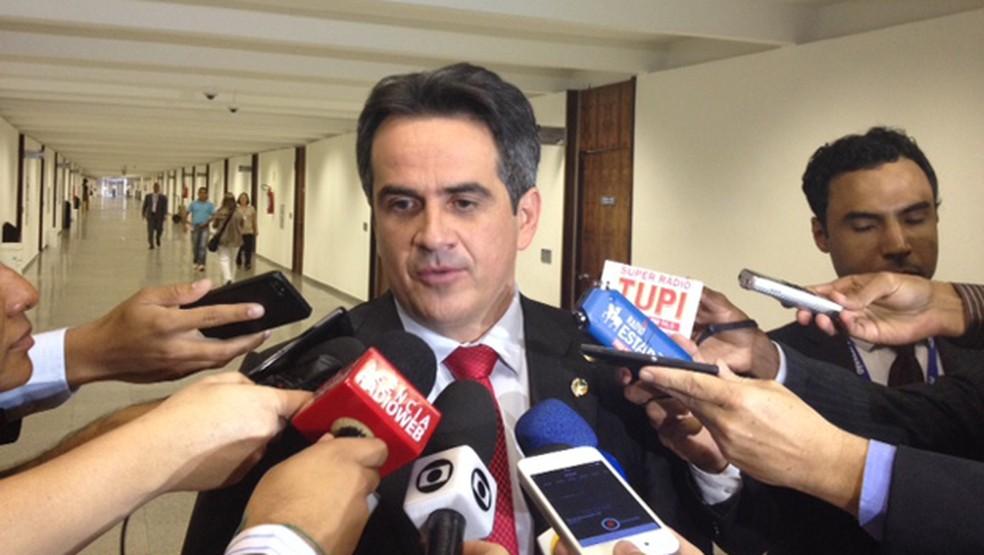 O senador Ciro Nogueira durante entrevista  (Foto: Filipe Matoso / G1)