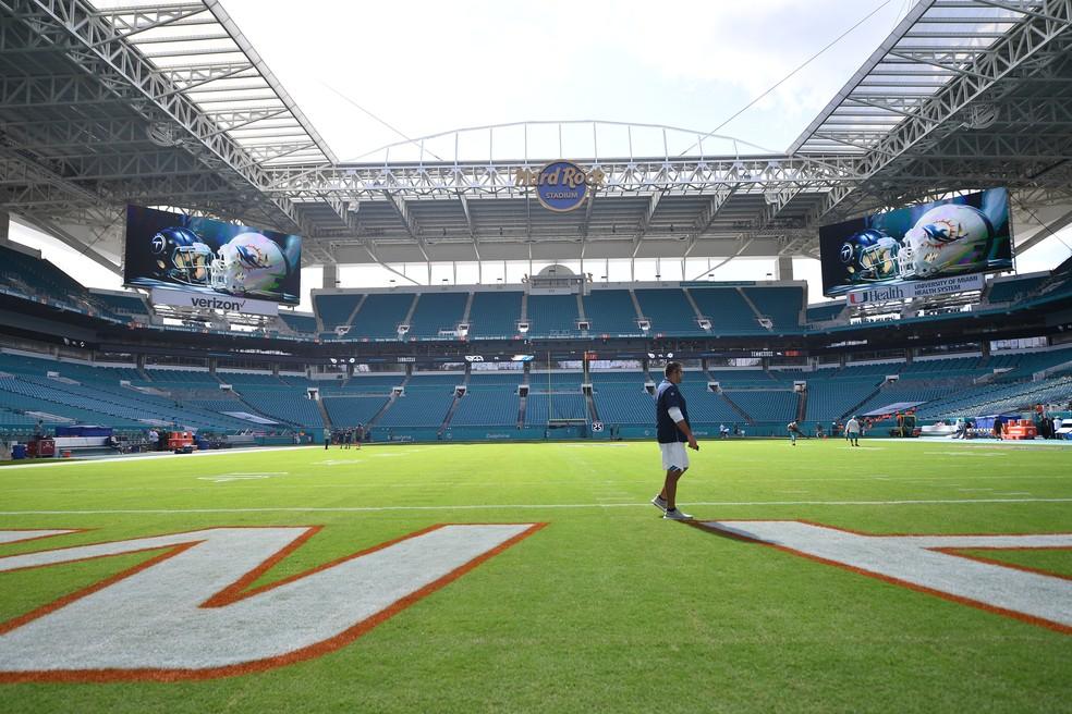 Estádio do Miami Dolphins vai receber o amistoso entre Brasil e Colômbia em setembro — Foto: Getty Images