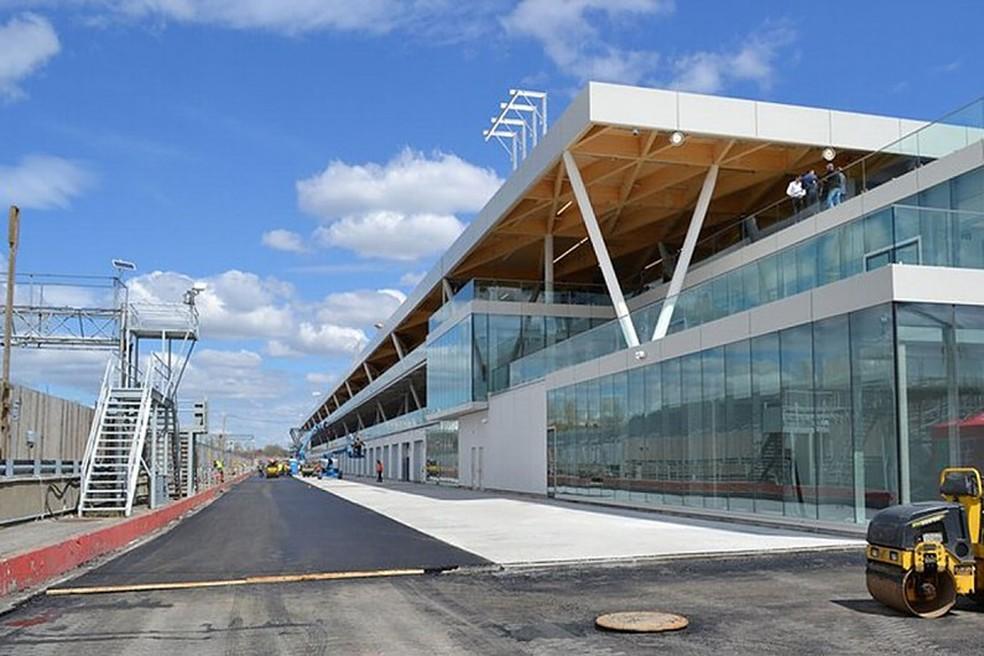 O novo paddock no Circuito Gilles Villeneuve — Foto: Divulgação