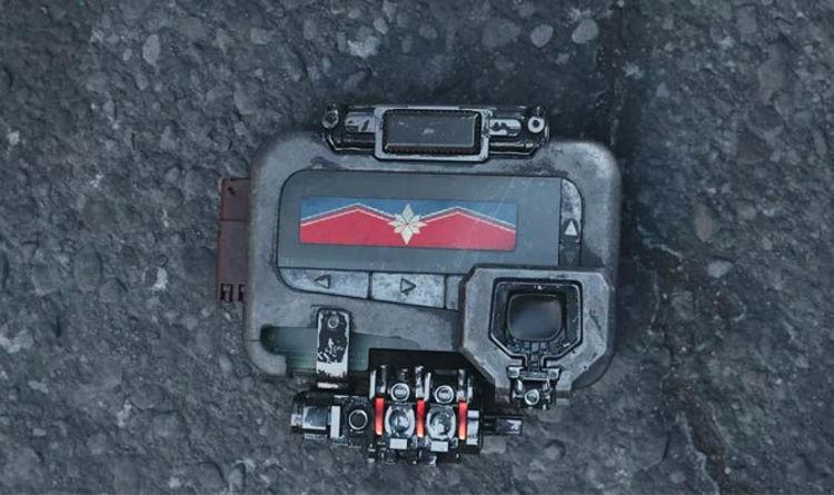 Sinal da Capitã Marvel aparece na cena pós-crédito de Vingadores: Guerra Infinita (Foto: Divulgação)