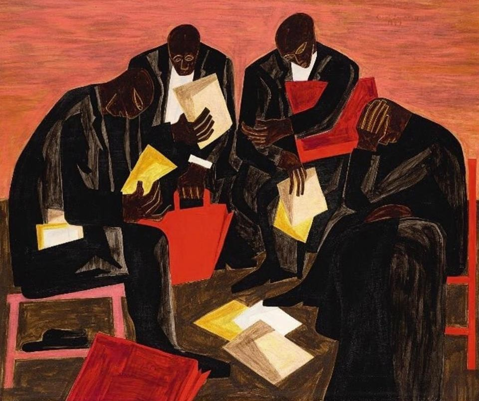 The Businessmen (1947), de Jacob Lawrence (Foto: Cortesia Sotheby's)