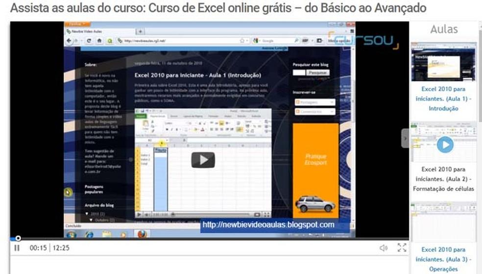 Cinco Sites Com Cursos Online Gratis De Excel Produtividade Techtudo