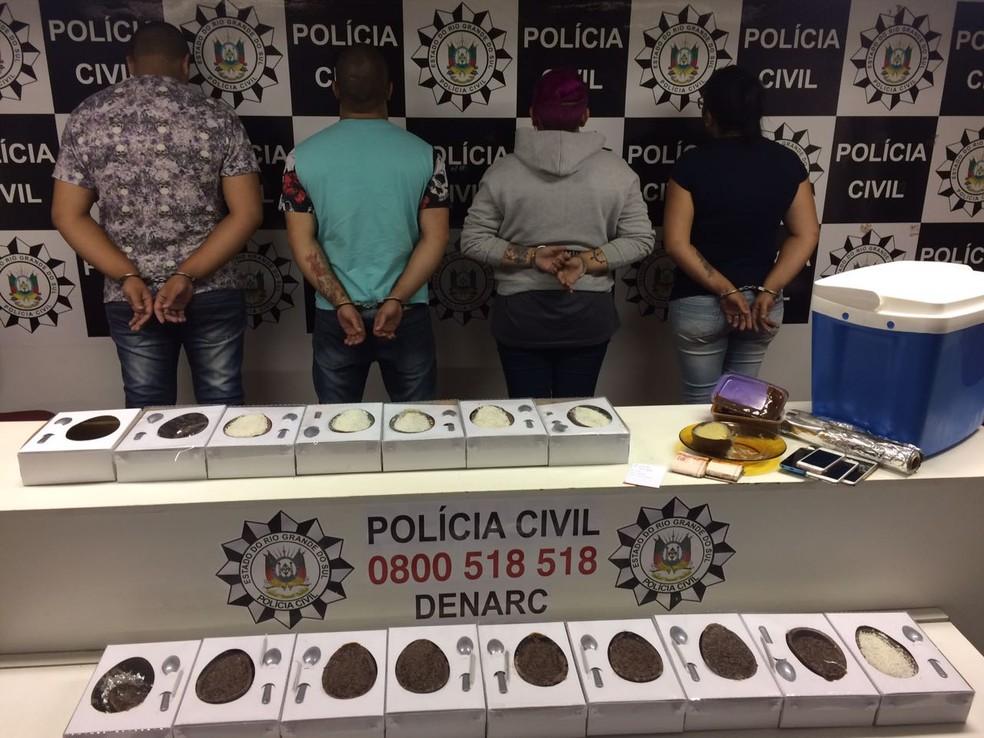 Suspeitos foram presos e encaminhados para o sistema prisional (Foto: Divulgação/Polícia Civil)
