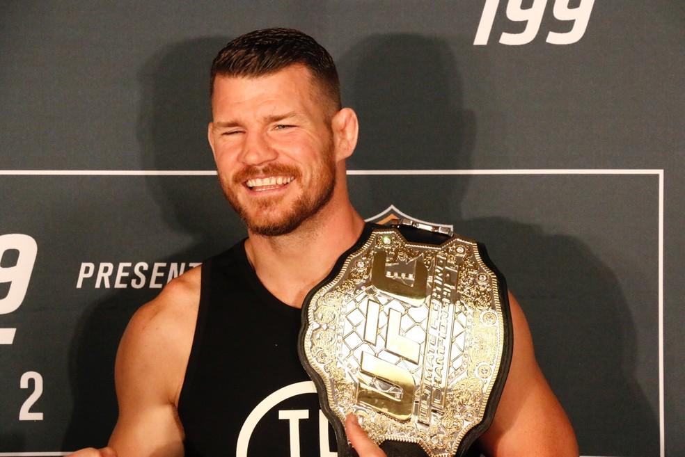 Atual campeão dos pesos-médios do UFC, Michael Bisping pode se aposentar após o UFC 217, em Nova York (Foto: Evelyn Rodrigues)