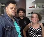 Babu Santana com os filhos Carlos e Laura | Reprodução