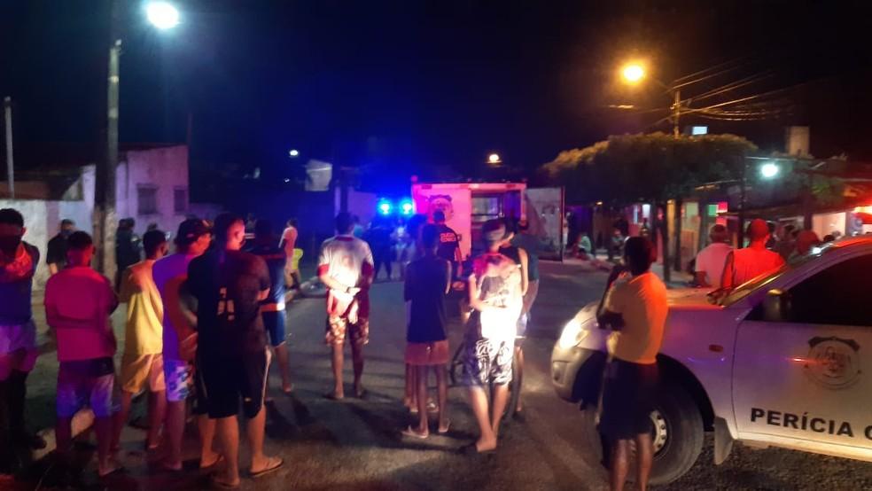 Dois jovens foram mortos em intervalo de meia hora em Macaíba — Foto: Sérgio Henrique Santos/Inter TV Cabugi