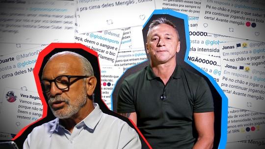 Júnior e Paulo Nunes leem mensagens de torcedores de Flamengo e Grêmio