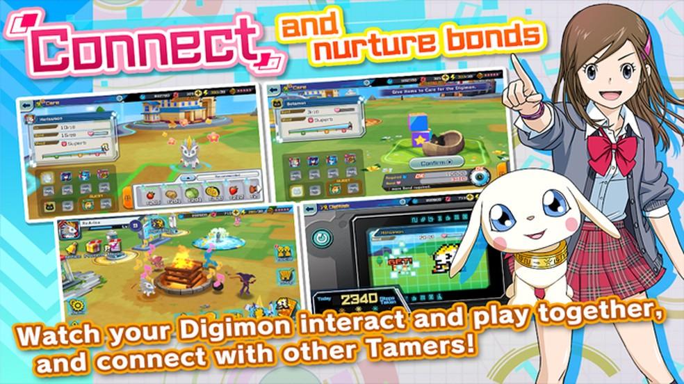 Digimon ReArise traz os monstrinhos em uma nova aventura contra criaturas chamadas Spirals — Foto: Reprodução/Google Play