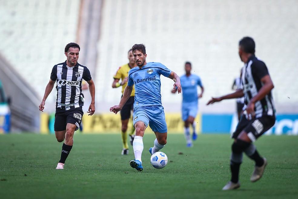 Lucas Silva não funcionou na estratégia montada pela comissão — Foto: Lucas Uebel/ Grêmio FBPA