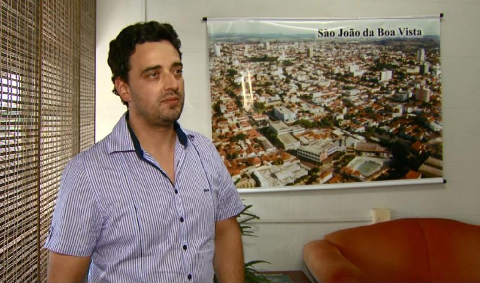 Diretor do departamento de engenharia da prefeitura Gustavo Lago (Foto: Rodrigo Sargaço/EPTV)