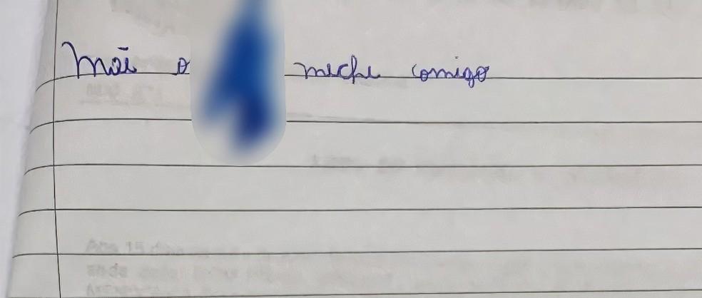 """Menina deixou bilhete para a mãe falando que o padrasto """"mexia"""" com ela — Foto: G1 Santos"""