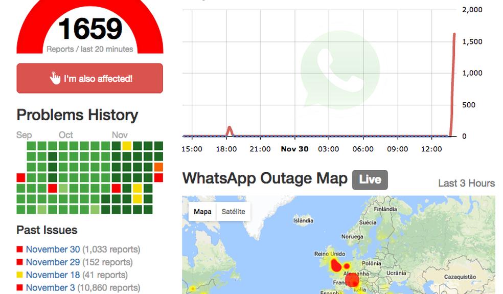 Site mostra mais de mil reclamações sobre WhatsApp (Foto: Reprodução)