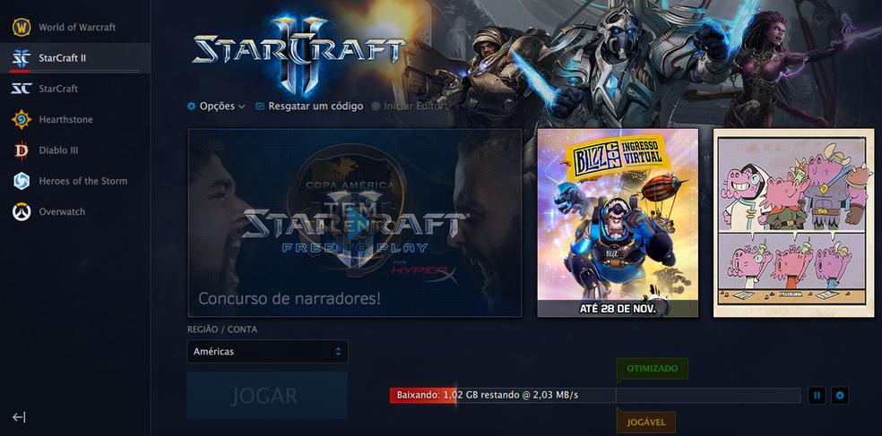 Processo de instalação de StarCraft 2 (Foto: Reprodução/Felipe Vinha)
