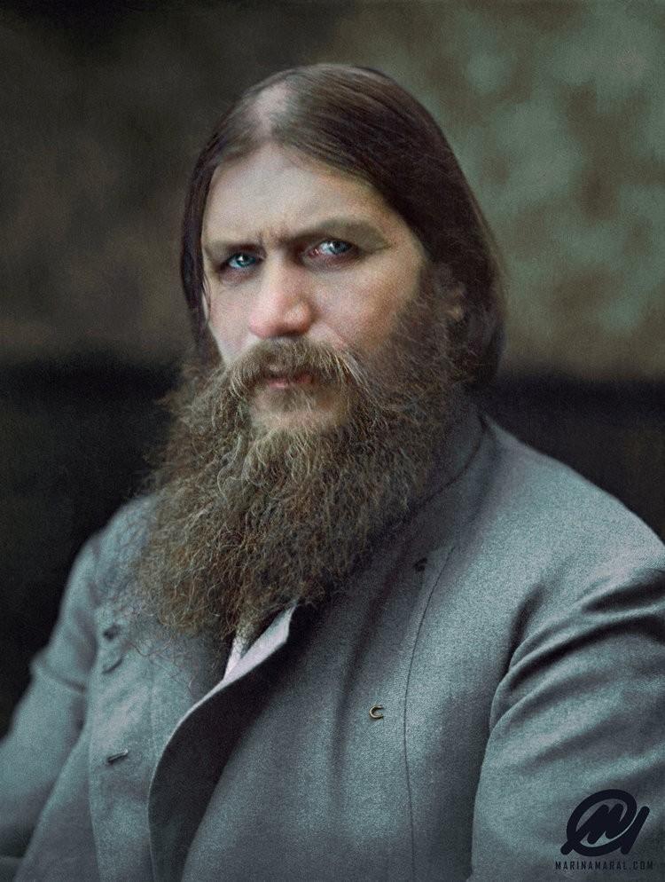 Grigori Rasputin colorizado por Marina Amaral (Foto: via Marina Amaral)