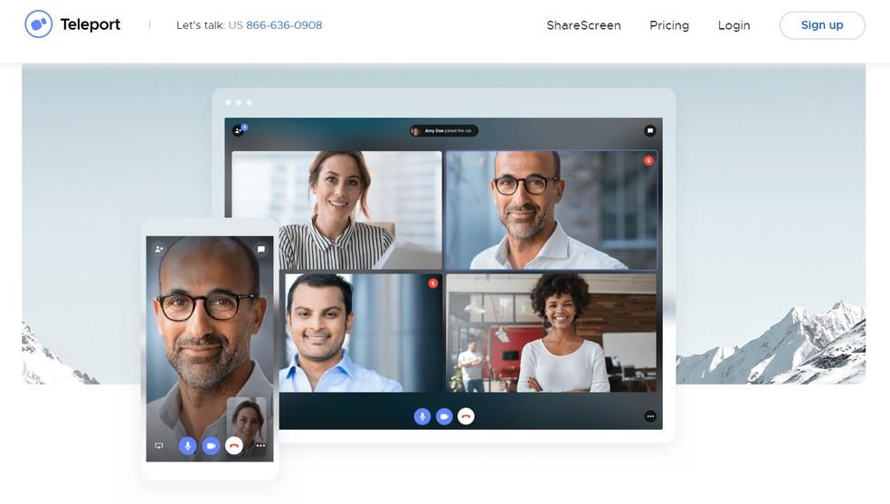 Teleport é plataforma para videoconferências — Foto: Reprodução/Teleport
