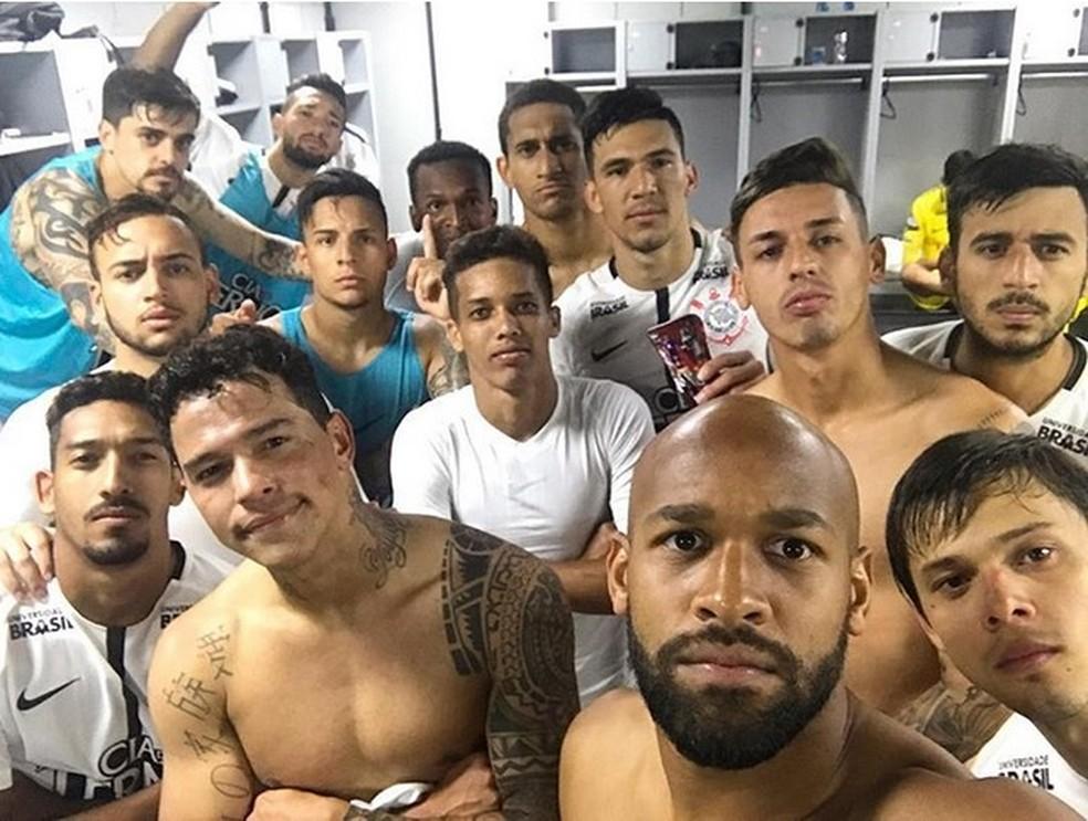 Jogadores do Corinthians posaram para foto