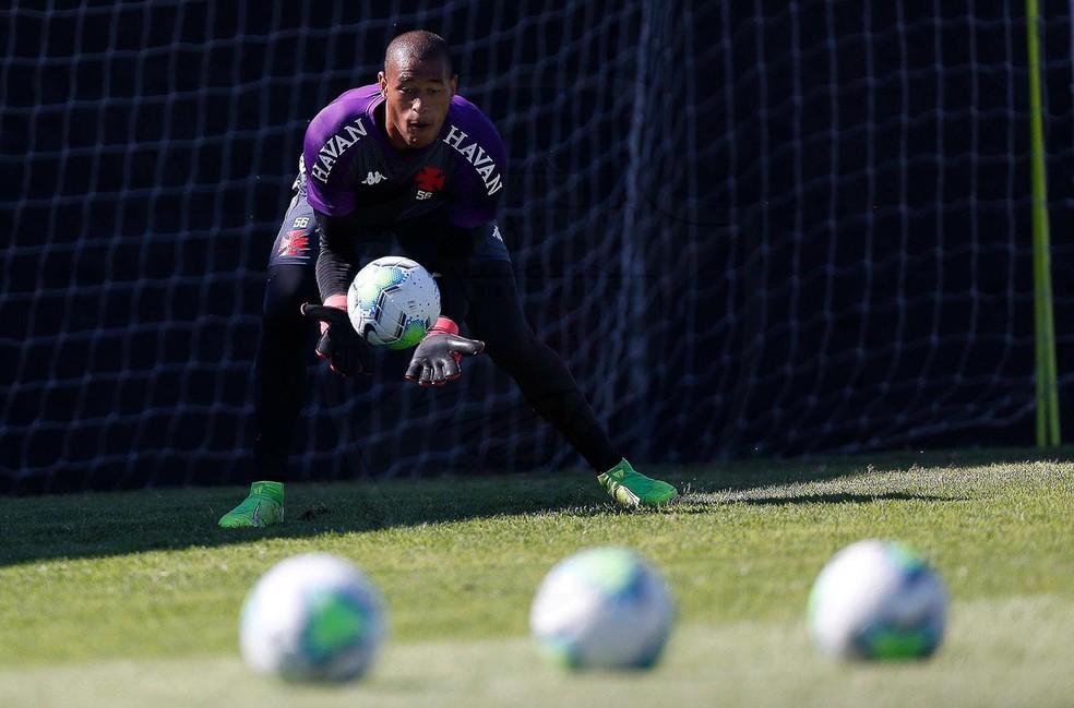 Goleiro Lucão é o atual titular do Vasco — Foto: Rafael Ribeiro/Vasco