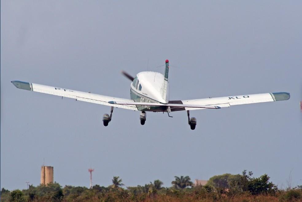 Avião que caiu com Gabriel Diniz — Foto: Iata Anderson Brandão Alves/Arquivo pessoal