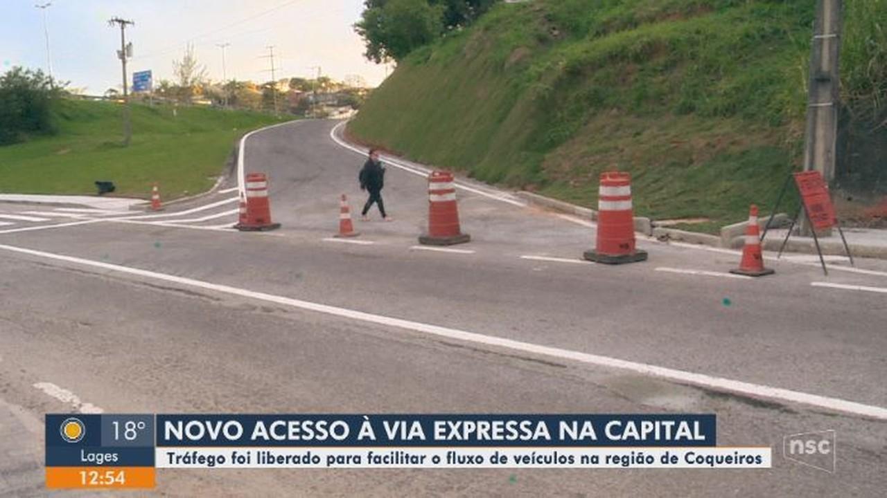 Via expressa em Florianópolis tem novo acesso na região de Coqueiros
