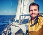 Max Fercondini no veleiro | Arquivo pessoal