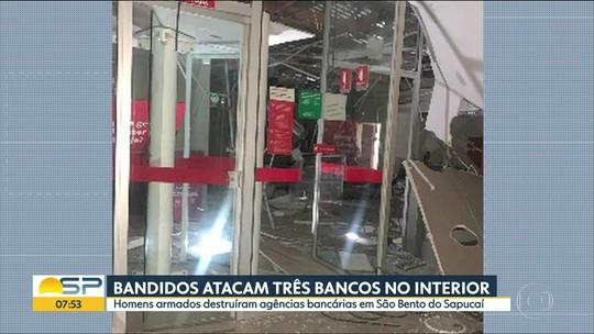 3 agências bancárias foram alvos de bandidos em São Bento do Sapucaí