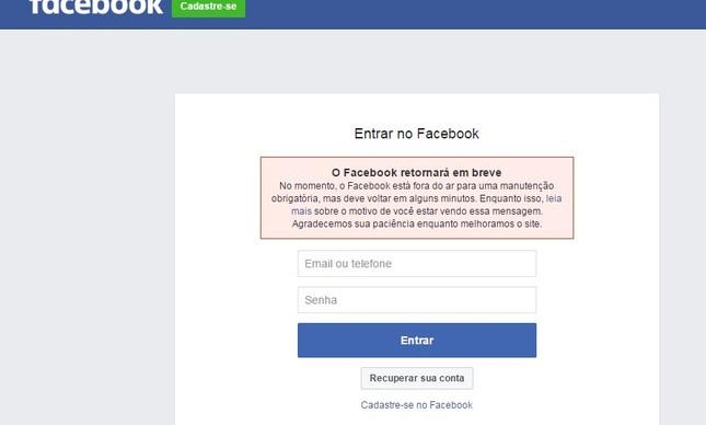Facebook e Instagram apresentam instabilidade na manhã deste sábado (26)