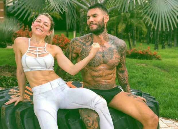 Karina e Lucas Lucco (Foto: Reprodução)
