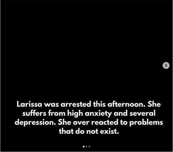 Um dos posts do noivo da brasileira Larissa dos Santos Lima falando sobre o ocorrido envolvendo ele e sua parceira (Foto: Instagram)