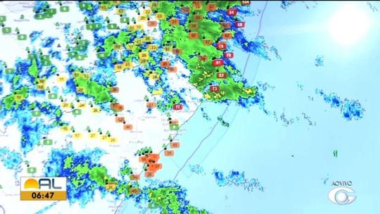 Tempo chuvoso deve continuar na maior parte de Alagoas nesta segunda