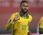 Neymar durante Peru x Brasil | Lucas Figueiredo/CBF